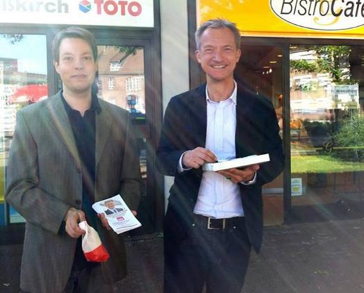 Stadtverordneter Ulli Jacob und Oberbürgermeister Frank Baranowski